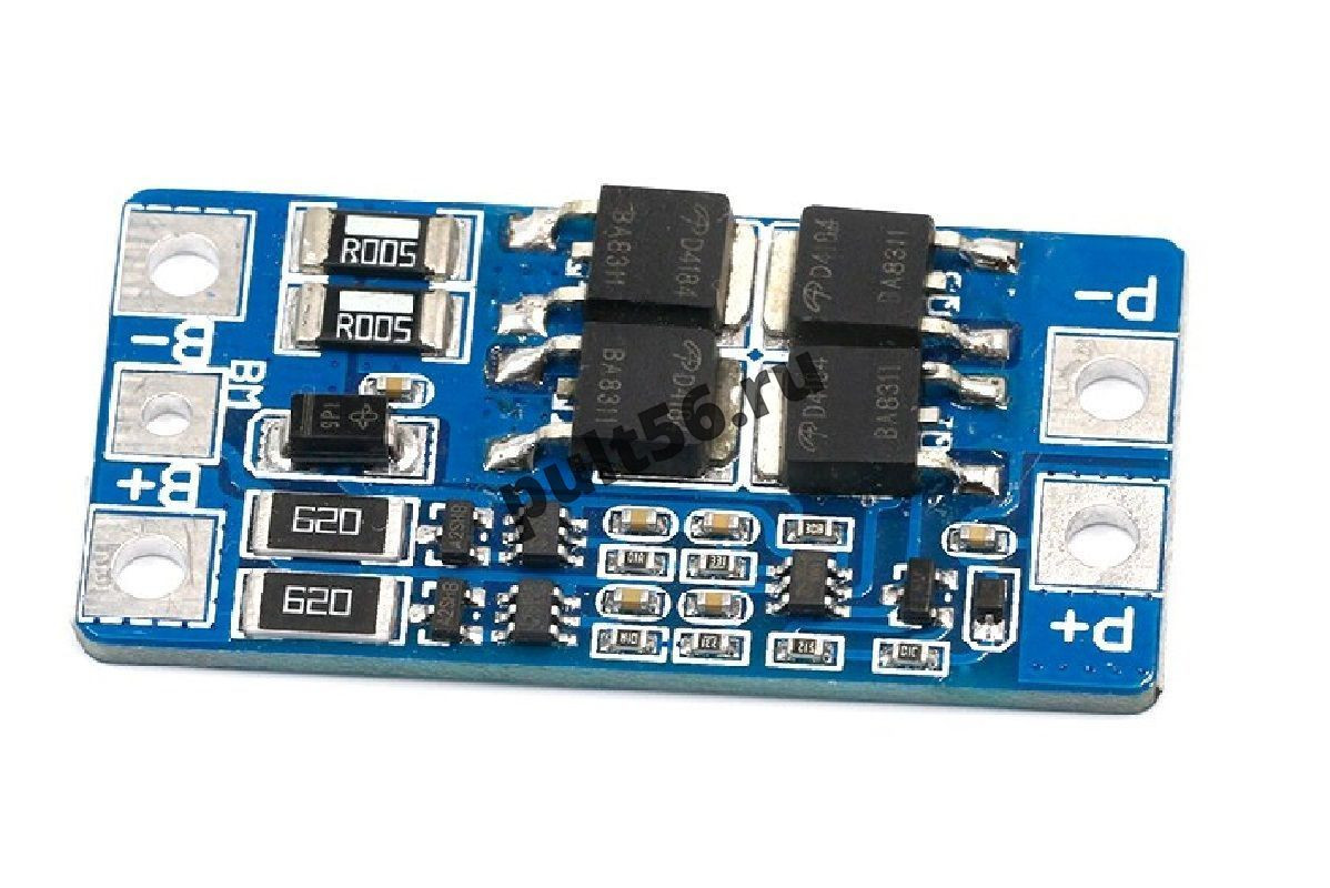 Плата защиты батареи BMS PCM для Li-ion 2S 13 A с балансировкой