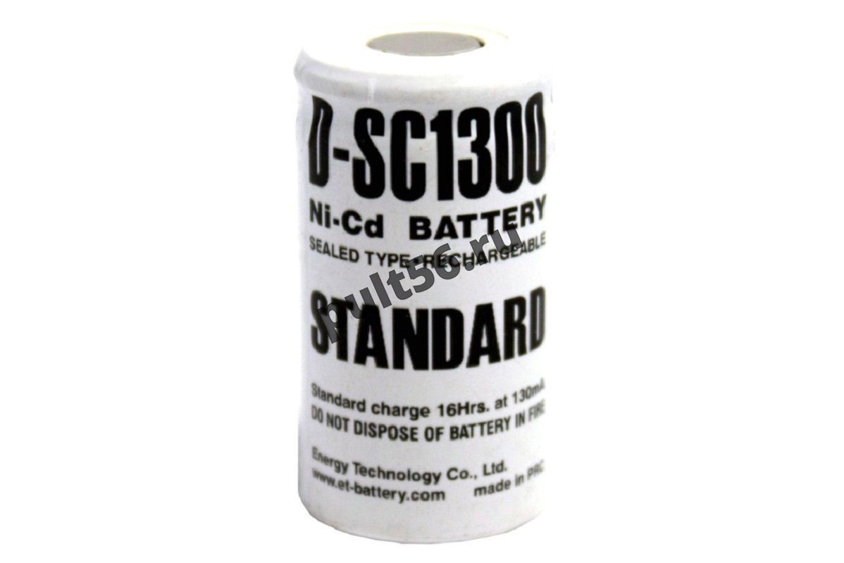Аккумулятор  NI-CD STANDARD SC 1300 mА, 1.2 В