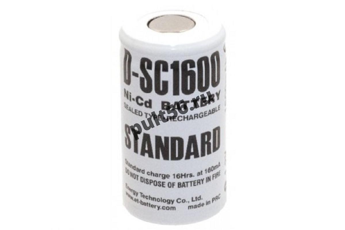 Аккумулятор NI-CD STANDARD  ET D-SC 1600 mA, 1.2 В
